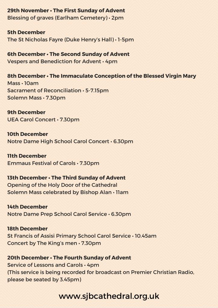 Advent Programme 2