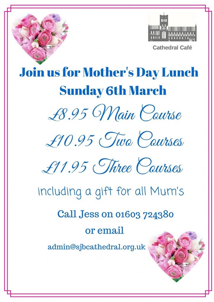 Mothers Day Lunch Norwich