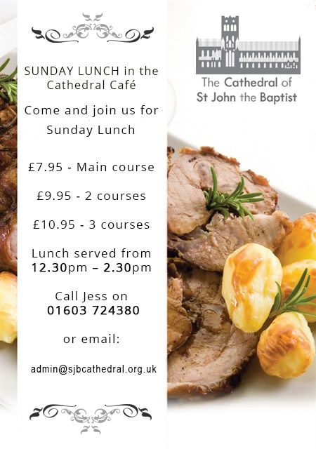 Sunday Lunch Deals in Norwich