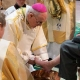 Bishop Alan washes feet of cathedral congregation