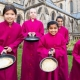 Cathedral choristers on song with pancake race fun